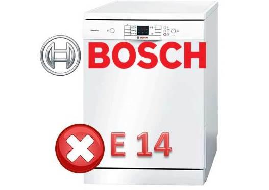 Come correggere l'errore E14 della lavastoviglie Bosch