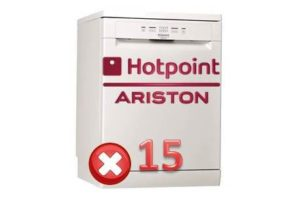Pogreška 15 u perilici posuđa Ariston