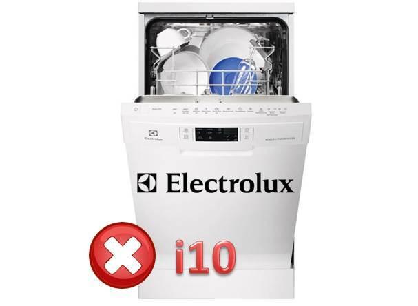 Ralat i10 dalam mesin pencuci elektrolux