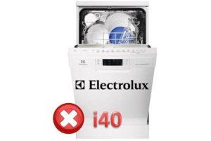 Pogreška i40 u perilici posuđa Electrolux