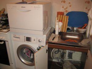 Мога ли да поставя миялна машина на пералнята