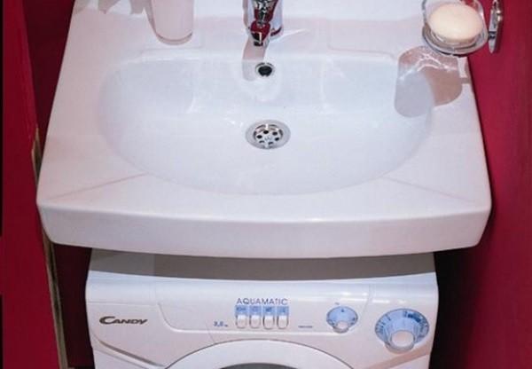 Мивка Saltek над пералнята