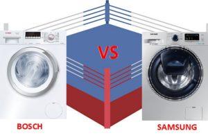 Apa yang lebih baik mesin basuh Bosch atau Samsung
