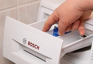 Къде да изсипете прах в пералня Bosch