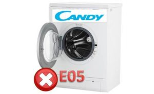 Pogreška E05 na perilici Candy