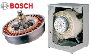 Model mesin basuh memandu Bosch langsung