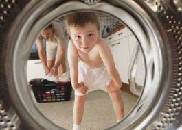כיצד להפעיל ולהשבית נעילת ילדים במכונת כביסה של LG