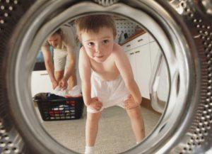 Как да активирате и деактивирате заключването на дете на пералнята LG