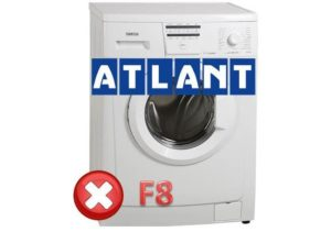 Pogreška F8 na perilici Atlant