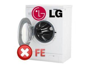 Bagaimana untuk membaiki kesilapan FE di mesin basuh LG