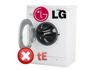 Pogreška tE na LG perilici rublja