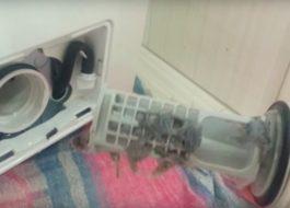 Почистване на филтъра на пералня Candy