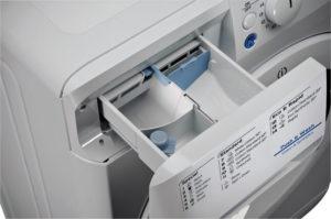 Къде да изсипете прах в перална машина Indesit