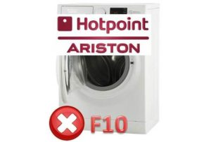 Kesalahan F10 pada mesin basuh Ariston
