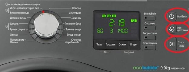 Имена на бутони на контролния панел