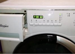 Как да поправите грешка F08 на пералнята Virpul