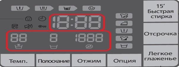 Цифри на дисплея