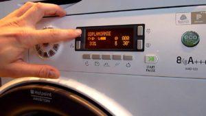 בדוק מצב שירות של מכונת כביסה