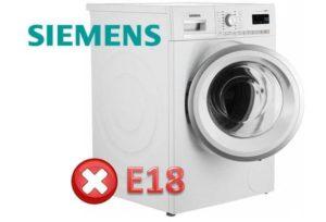 Pogreška E18 u perilici stroja tvrtke Siemens