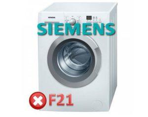 Ralat F21 dalam mesin basuh Siemens