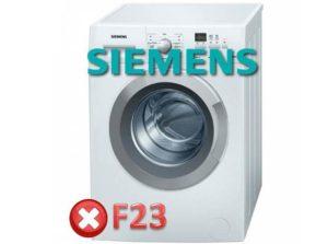 Ralat F23 dalam mesin basuh Siemens