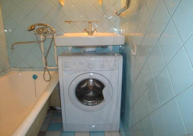опция за инсталиране на машината в банята