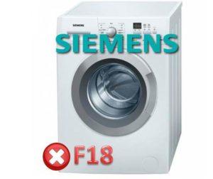 Pogreška F18 u perilici tvrtke Siemens