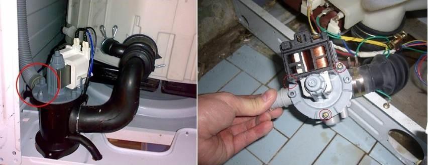 проверете помпата на пералнята Siemens