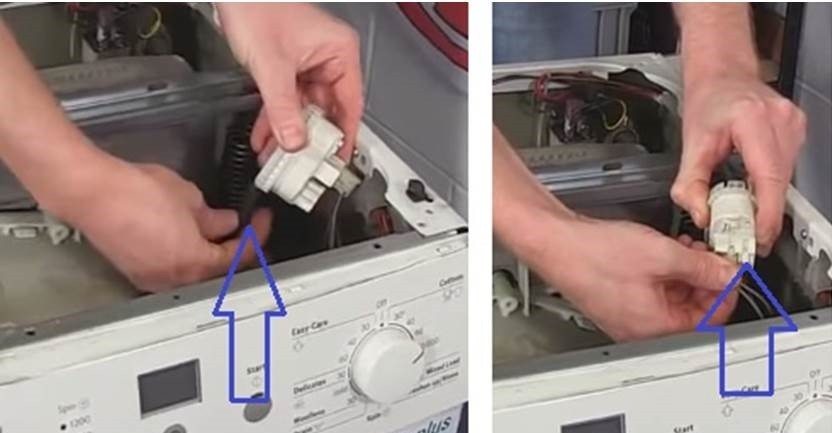 извадете превключвателя за налягане от машината на Siemens