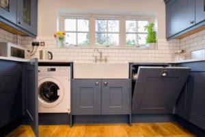 инсталиране на пералня в кухнята