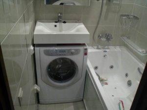 Di mana hendak meletakkan mesin basuh di dalam bilik mandi yang kecil