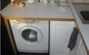 איפה לשים מכונת כביסה במטבח קטן
