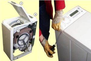 A feltöltött mosógép szétszerelése