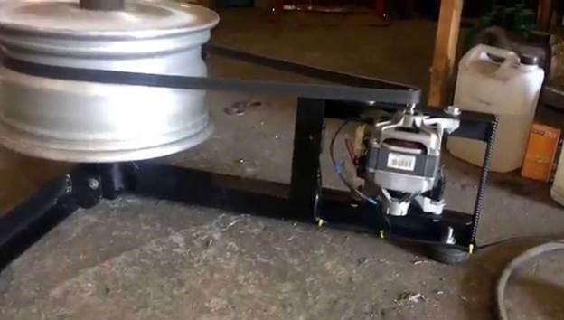 основата за машината може да бъде сглобена и така