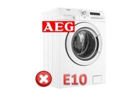 Грешка E10 в пералнята AEG