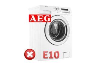 Ralat E10 di mesin basuh AEG