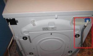 проверете входящия маркуч на пералнята