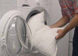 Как да измиете възглавница с холофибър в пералня