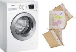 Bolehkah saya membasuh sisi katil bayi di mesin basuh?