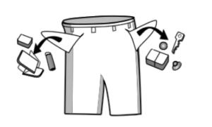 празни джобове от чужди предмети преди измиване
