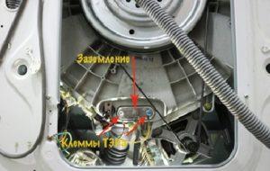 повреда на окабеляването или повреда на нагревателя