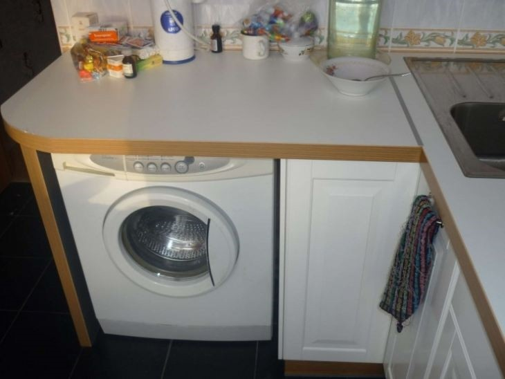 Wie Man Eine Waschmaschine In Der Kuche Versteckt