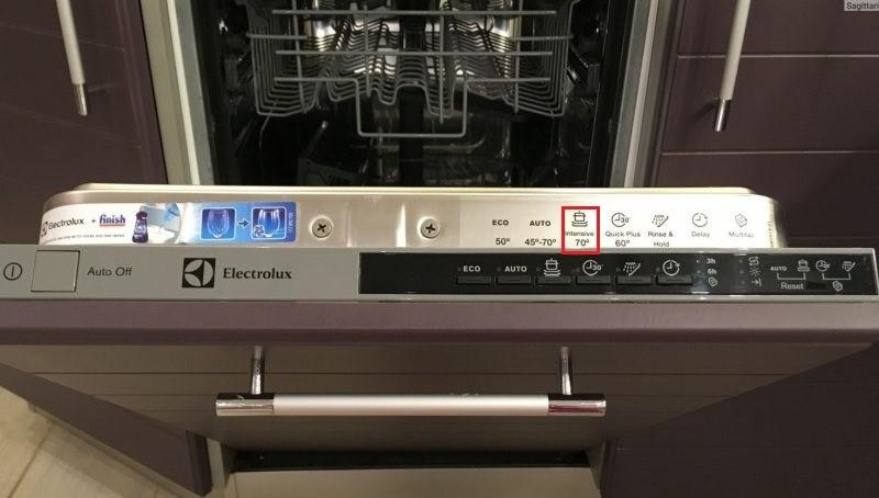 маркировката за максимална температура може да бъде на контролния панел