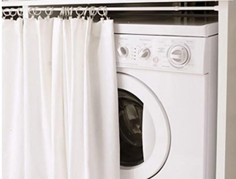 пералня зад завесата