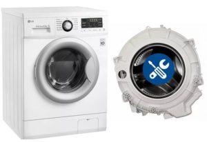 Mesin basuh yang mempunyai tangki yang boleh dilipat