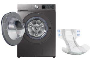 Apa yang perlu dilakukan jika anda mencuci lampin dengan perkara lain di mesin basuh