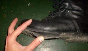 ha a cipő javításra szorul