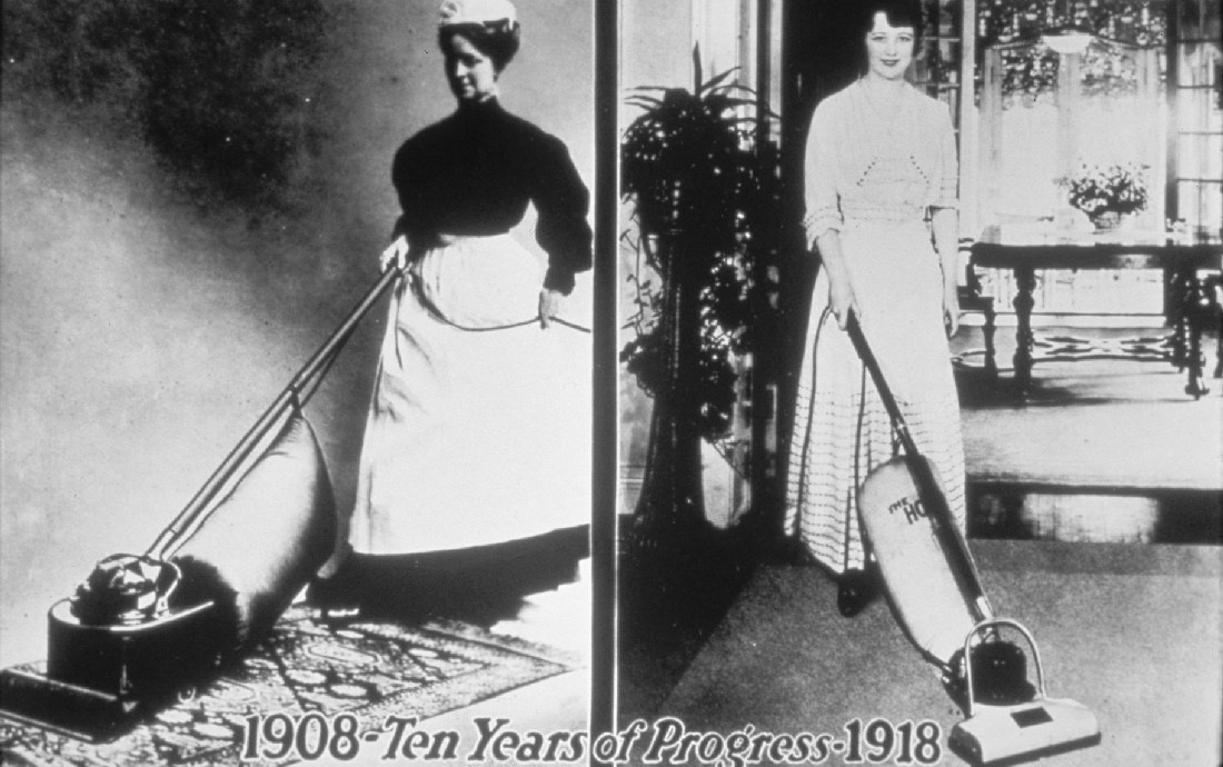 Хувър произвежда прахосмукачки от 1908г