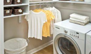 Как да поставите пералня в съблекалнята