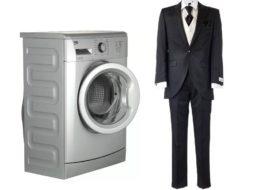 Wie man einen Herrenanzug in einer Waschmaschine wäscht